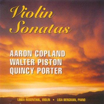 American Violin Sonatas audio CD by Violinist Linda Rosenthal