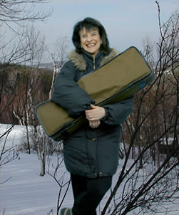 Linda Rosenthal with violin