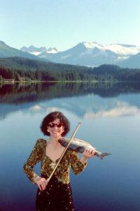 Violinist Linda Rosenthal plays the fish